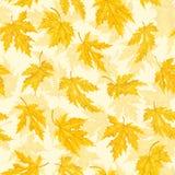 Naadloos patroon met blad, de achtergrond van het de herfstblad Vector illustratie Royalty-vrije Stock Foto
