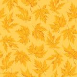 Naadloos patroon met blad, de achtergrond van het de herfstblad Vector illustratie Royalty-vrije Stock Afbeelding