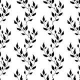 Naadloos patroon met bladeren Stock Fotografie