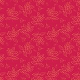 Naadloos patroon met bladeren Autumn Pattern Vector royalty-vrije illustratie