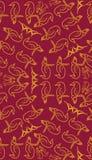 Naadloos patroon met bladeren, bloemen en vogels Royalty-vrije Stock Foto's