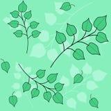 Naadloos patroon met bladeren en takken vector illustratie