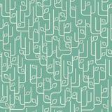 Naadloos patroon met bladerenornament Stock Fotografie