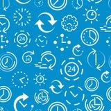 Naadloos patroon met blauwe achtergrond stock foto's