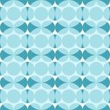 Naadloos patroon met blauwe cirkels Abstractie van donkere en lichtblauwe cirkels royalty-vrije illustratie