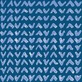 Naadloos patroon met blauwe hand getrokken tikken royalty-vrije illustratie
