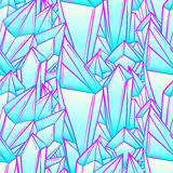 Naadloos patroon met blauwe kristallen Ontwerp voor stof, textiel, vector illustratie
