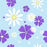 Naadloos patroon met bloemen royalty-vrije illustratie