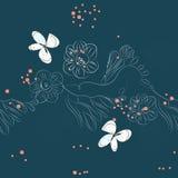 Naadloos patroon met bloemen Royalty-vrije Stock Foto