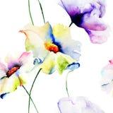 Naadloos patroon met bloemen Stock Afbeelding