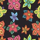 Naadloos patroon met bloemen Stock Foto's