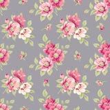 Naadloos patroon met bloemen Royalty-vrije Stock Afbeelding