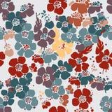 Naadloos patroon met bloemen Royalty-vrije Stock Foto's