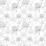 Naadloos patroon met bloemen Stock Foto