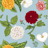 Naadloos patroon met bloemen Stock Fotografie