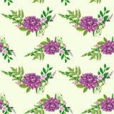 Naadloos patroon met bloemen en bladeren Royalty-vrije Stock Fotografie