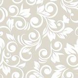 Naadloos patroon met bloemen en bladeren Patroon 08 deeg Royalty-vrije Stock Afbeeldingen