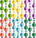 Naadloos patroon met bloemen en vissen Royalty-vrije Stock Foto