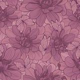 Naadloos patroon met bloemen en vlinder Royalty-vrije Stock Afbeelding