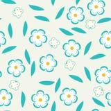 Naadloos patroon met bloemen en vlinders. Royalty-vrije Stock Afbeeldingen