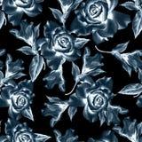 Naadloos patroon met bloemen Nam toe Iris De illustratie van de waterverf Stock Afbeeldingen