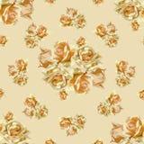 Naadloos patroon met bloemen in uitstekende stijl Royalty-vrije Stock Fotografie