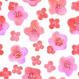 Naadloos patroon met bloemen in vector Royalty-vrije Stock Foto