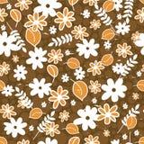 Naadloos patroon met bloemenelementen Stock Foto's