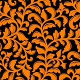 Naadloos patroon met bloemenelementen Royalty-vrije Stock Afbeelding