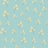 Naadloos patroon met bloemenelementen Stock Foto