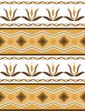 Naadloos patroon met bloemenmotief Vector illustratie Stock Foto