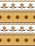 Naadloos patroon met bloemenmotief Vector illustratie EPS10 Stock Afbeeldingen