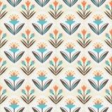 Naadloos patroon met bloemenornament stock illustratie