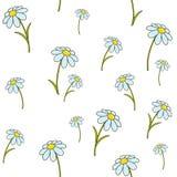Naadloos patroon met bloemenornament Stock Afbeelding