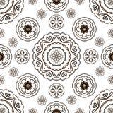 Naadloos patroon met bloemenornament Royalty-vrije Stock Foto