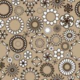 Naadloos patroon met bloemenornamenten Royalty-vrije Stock Afbeeldingen