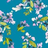 Naadloos patroon met bloemenwaterverf Stock Foto