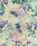 Naadloos patroon met bloemenwaterverf Stock Afbeelding