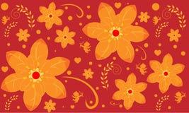 Naadloos patroon met bloempatroon royalty-vrije illustratie