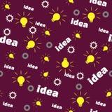 Naadloos Patroon met Bol, Toestel en Word Idee Stock Afbeeldingen