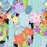 Naadloos patroon met cactus vector illustratie