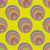 Naadloos patroon met cirkels Royalty-vrije Stock Foto's