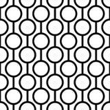 Naadloos patroon met cirkels en strepen Royalty-vrije Stock Afbeeldingen