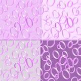 Naadloos patroon met cirkels in vier variaties van achtergrond Stock Foto's