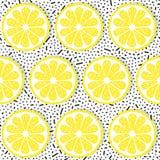 Naadloos patroon met citroenen Stock Foto's