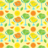 Naadloos patroon met citrusvruchtenjam Royalty-vrije Stock Afbeelding