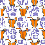 Naadloos patroon met coctaildranken Stock Illustratie