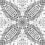 Naadloos Patroon met Concentrische Cirkels Zwart-witte regeling als achtergrond met bogen Abstracte textuur stock illustratie