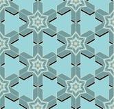 Naadloos patroon met 3d effect Royalty-vrije Stock Fotografie
