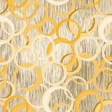 Naadloos patroon met 3d ringen op grunge gestreepte achtergrond in pastelkleuren Royalty-vrije Stock Foto's